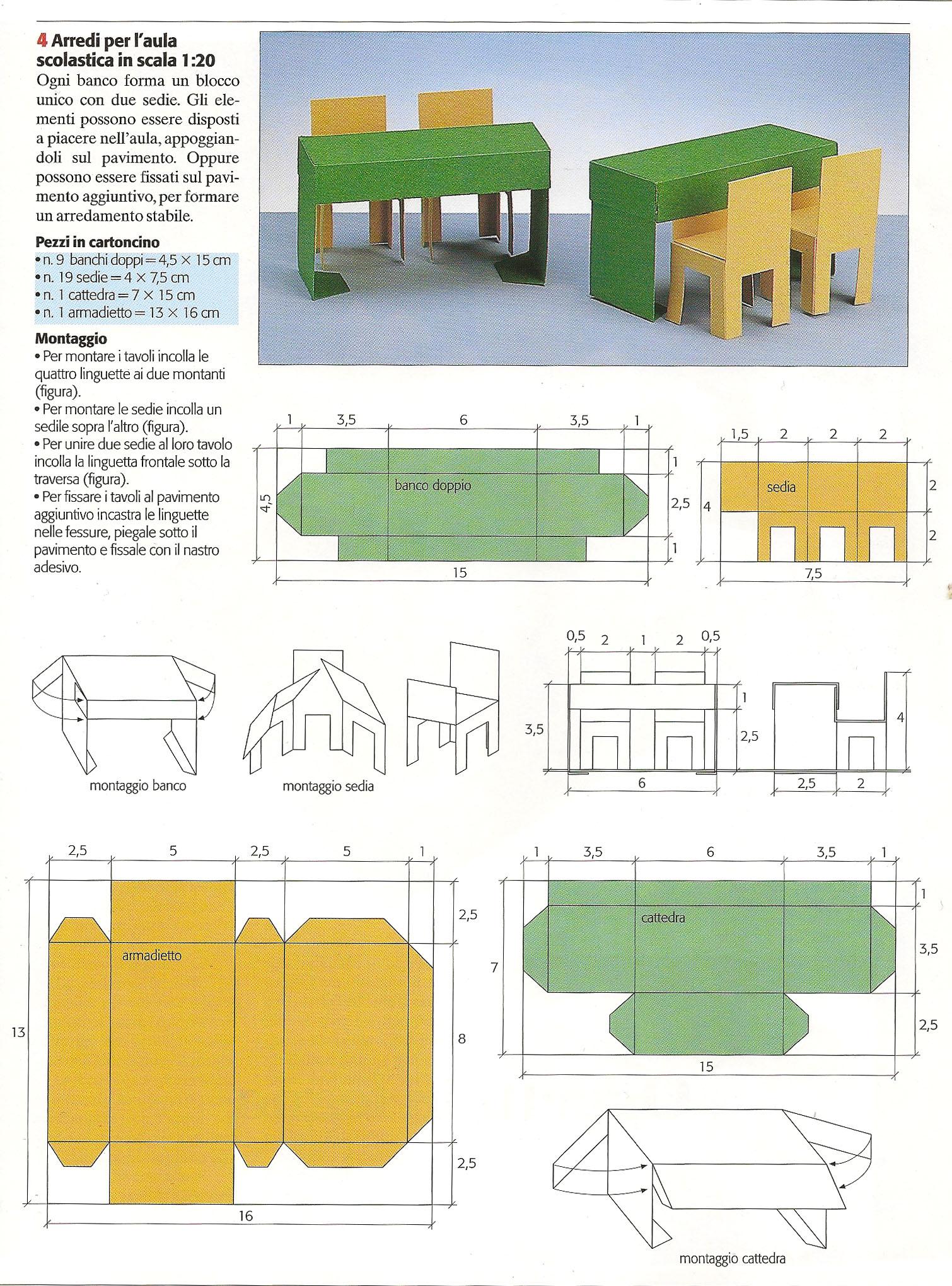 Come realizzare il modellino della nostra classe a for Creare una piantina della casa