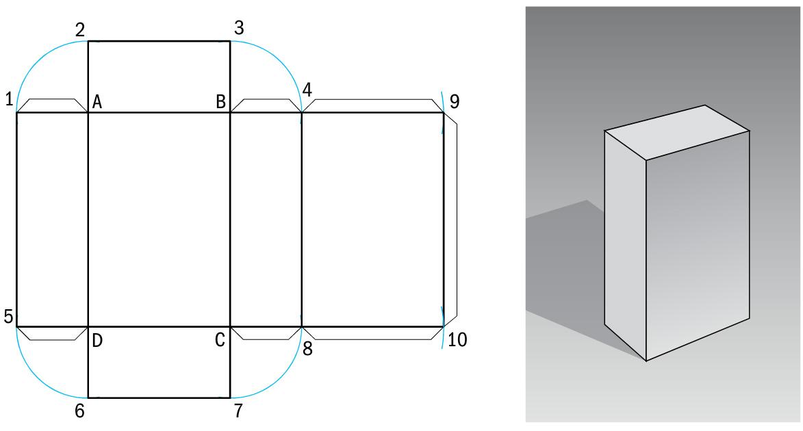 sviluppo solidi - parallelepipedo